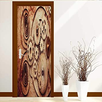 Amazoncom Leighhome Art Decor 3d Door Wall Mural Wallpaper
