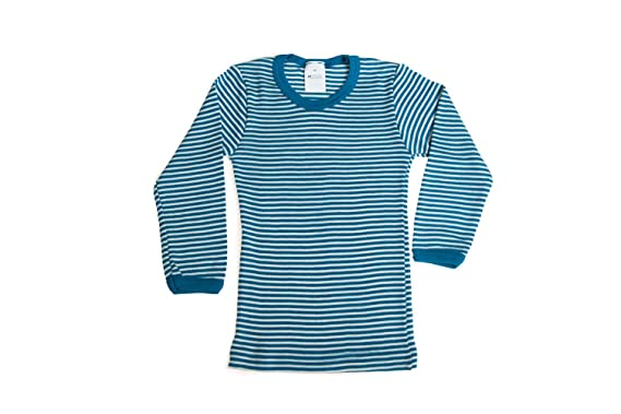 Amazon.com: Little Girls Organic Wool-Silk Long-Sleeve Underwear ...