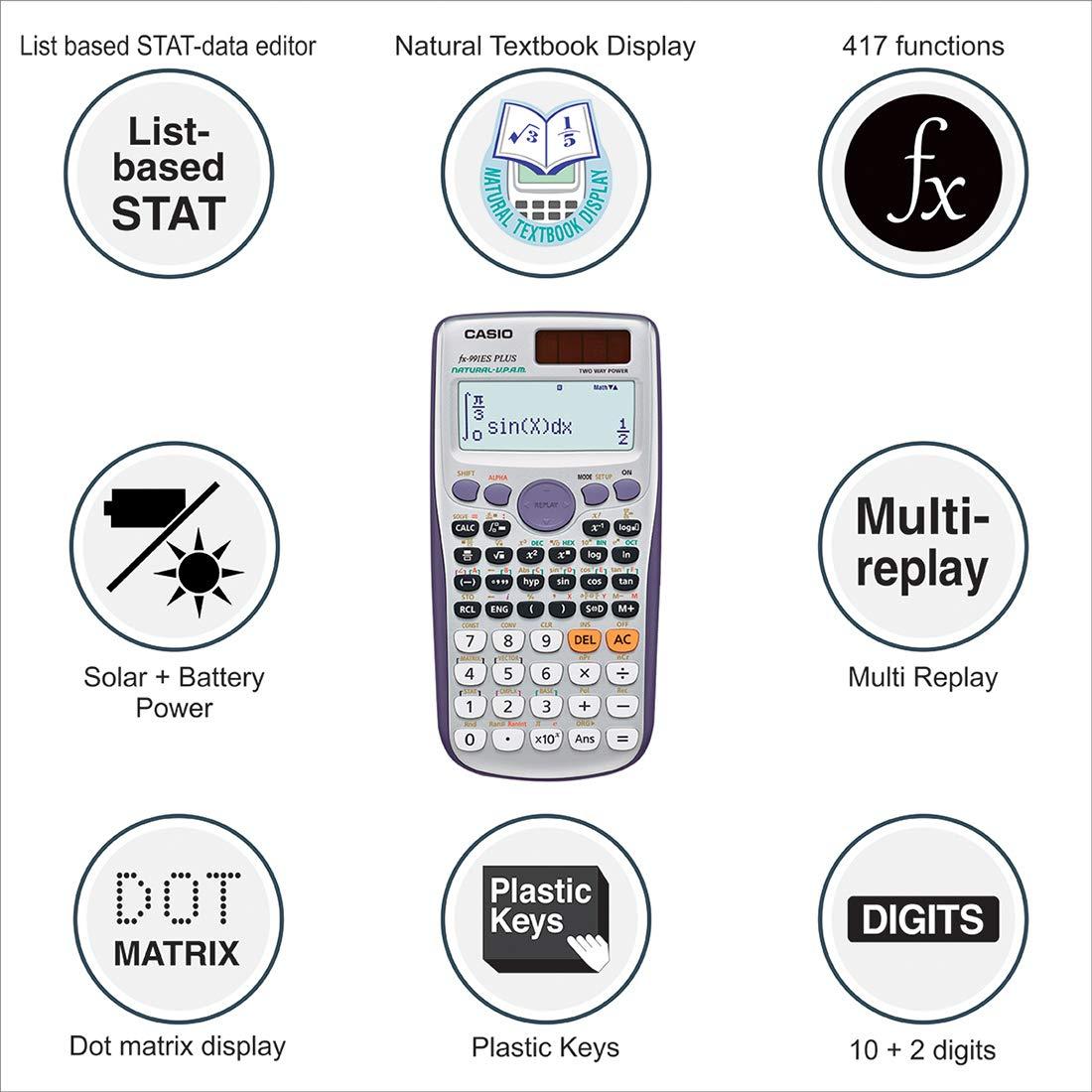 Casio Fx 991esplus Scientific Calculator Amazon Office Products