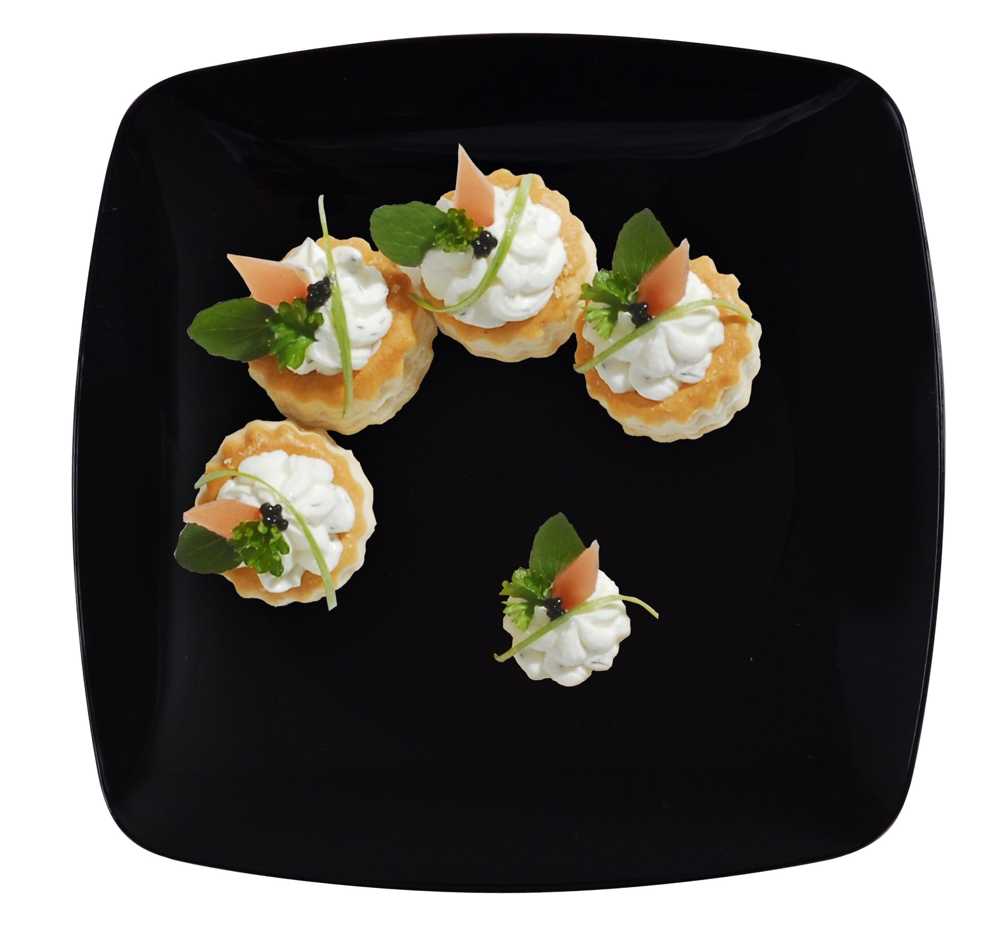 Fineline Settings Renaissance Black Rounded Square China-Like 10'' Plate  120 Pieces