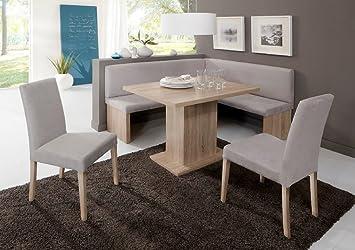 Eckbankgruppe U0026quot;CHARLEENu0026quot; Eckbank Tisch Sitzgruppe Küche Esszimmer  / Eiche Sonoma ...