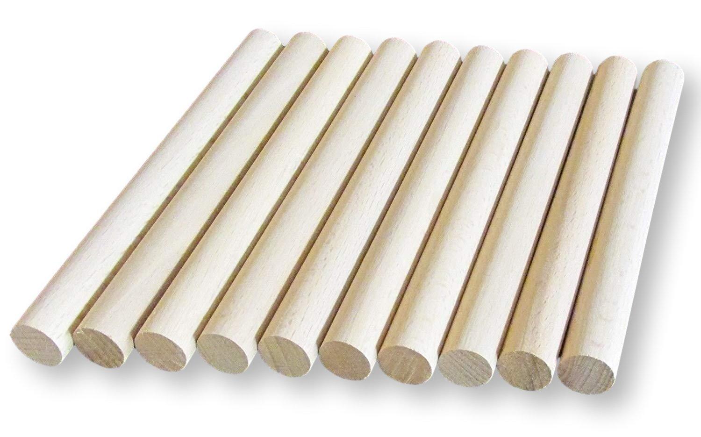 30 cm Lunghezza BrilliantBuys 10 Tasselli in Legno con Adesivi 12 mm di Spessore 10 cm 15 cm 10 cm