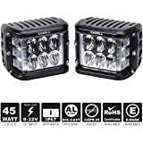 KAWELL Dual Side Shooter Led Cube 45W Led Work Light Off Road Led Light Driving Light Super Bright for SUV Truck Car ATVs