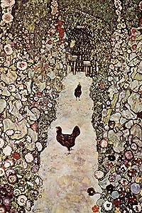 Gustav Klimt Garden Path with Chickens Art Print Laminated Dry Erase Sign Poster 24x36