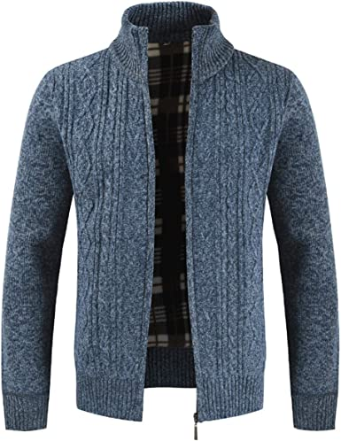 Baby Room Mens Casual Knit Cardigan Classic Stand Collar Sweaters