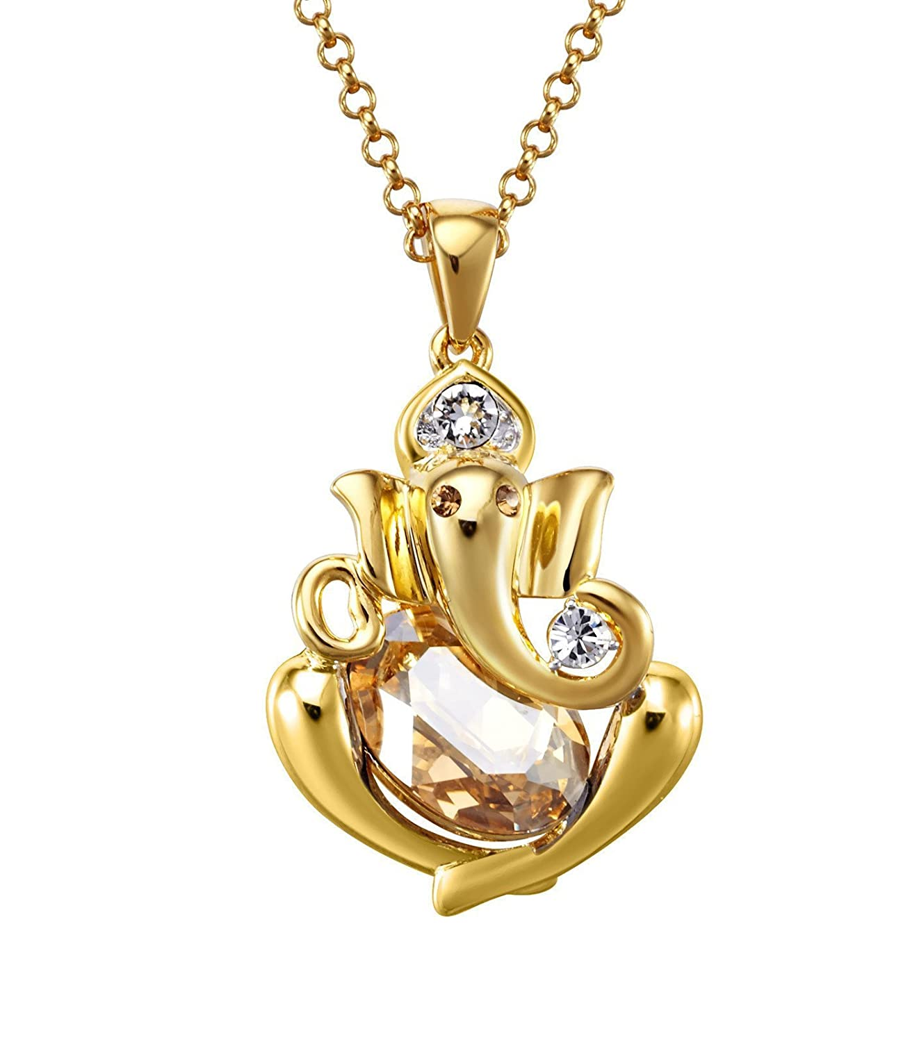 Nevi ganesha ganpati god swarovski crystals 18k yellow gold plated nevi ganesha ganpati god swarovski crystals 18k yellow gold plated princess unisex pendant necklace nevi amazon jewellery mozeypictures Gallery