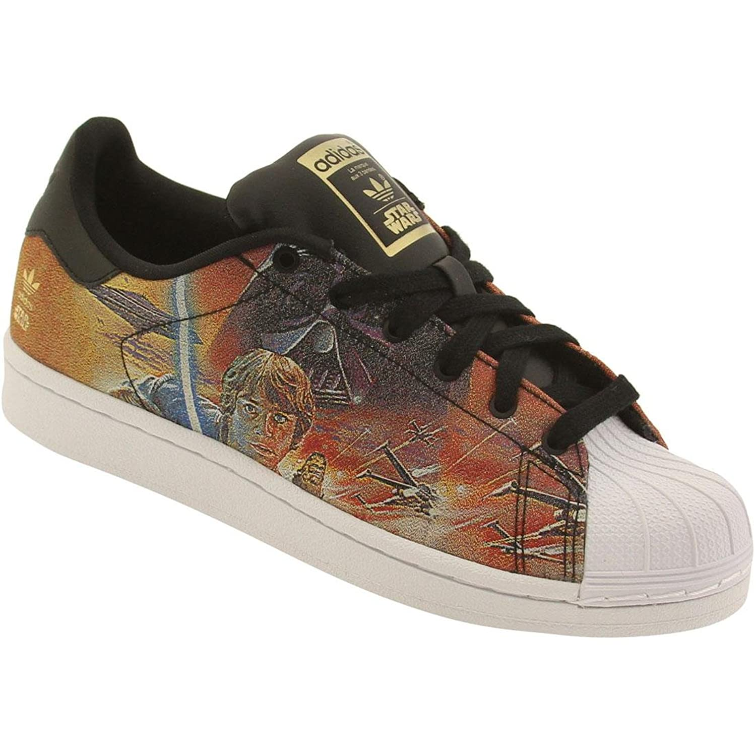 Amazon.com | Adidas Superstar (Star Wars) (Kids) - Black / White, 6 M US | Sneakers