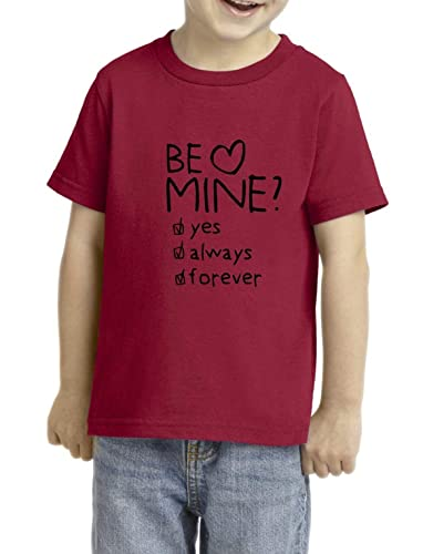 5f489bcc Amazon.com: Be Mine T-Shirt - Graphic Tees - Funny - Toddler - Unisex -  Girls - Boys - Kids - Valentines Day Gift: Handmade