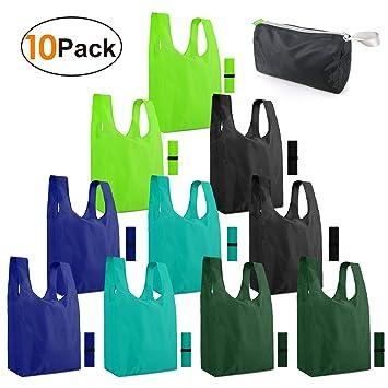 Amazon.com: Bolsas reutilizables para la compra, plegables ...