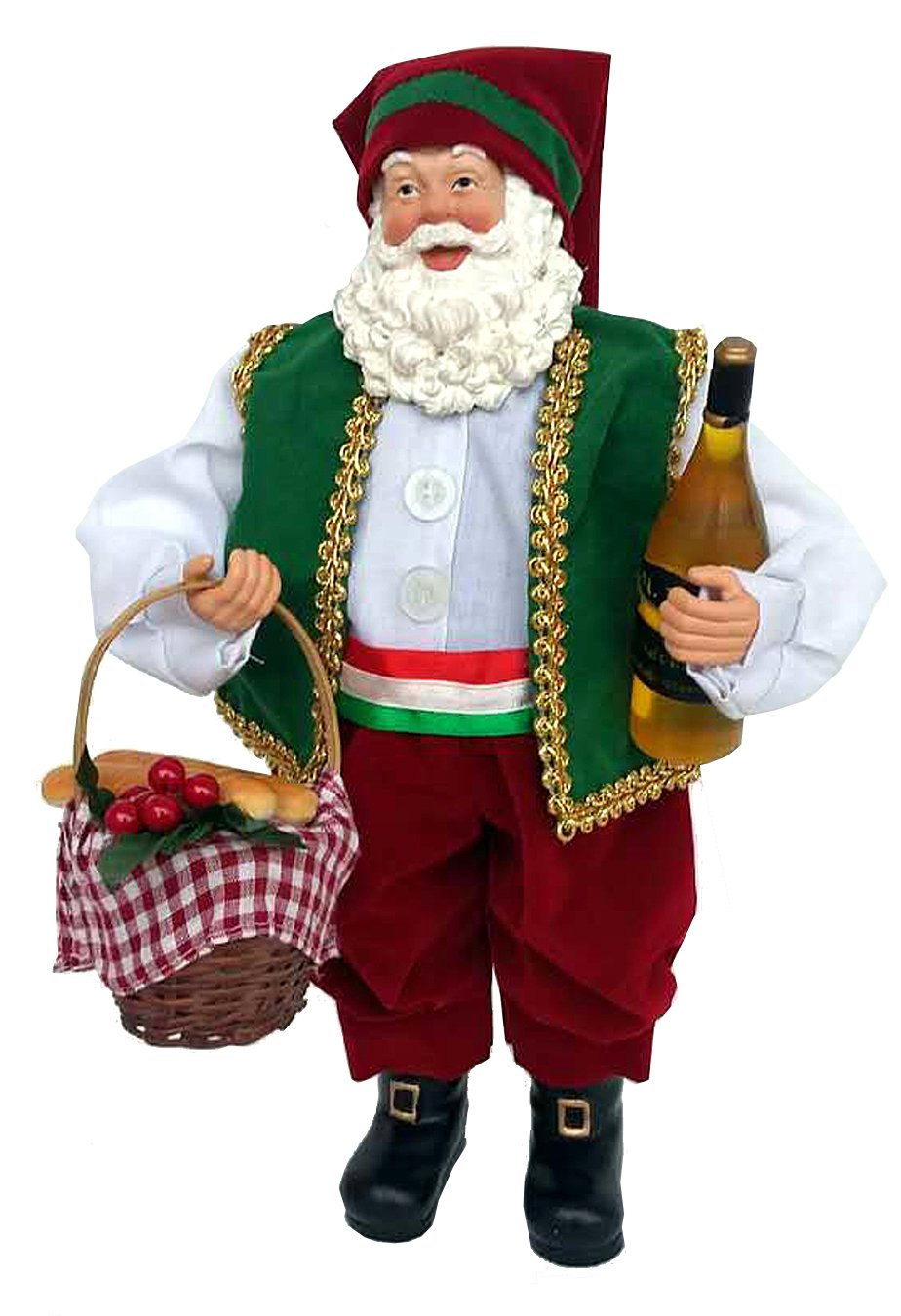 Santa's Workshop 5625 Italian Santa Figurine, 12'', Multicolored