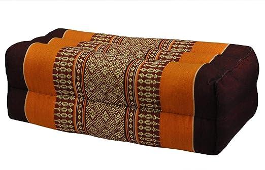 Cojín Thai Meditación tailandés, marrón/naranja (81104 ...