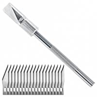 Washati Scalpel avec 20 lames de rechange - Cutter de précision