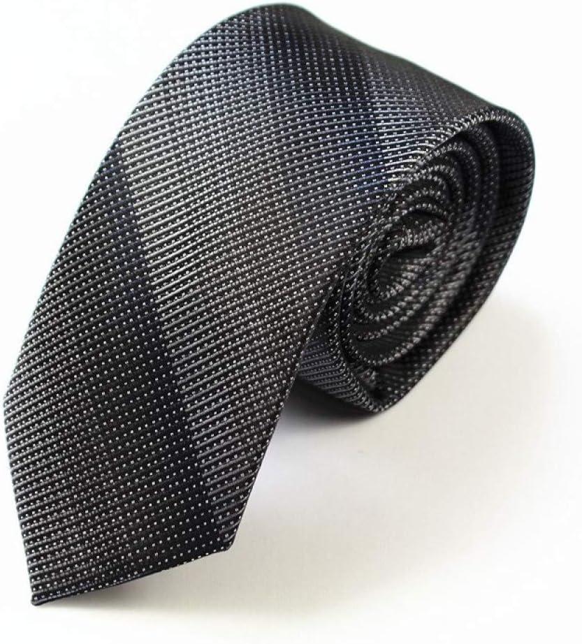 ZXCVBN Slim Tie 6cm Skinny Silk Jacquard Woven Neckties for Men Wedding Party Groom