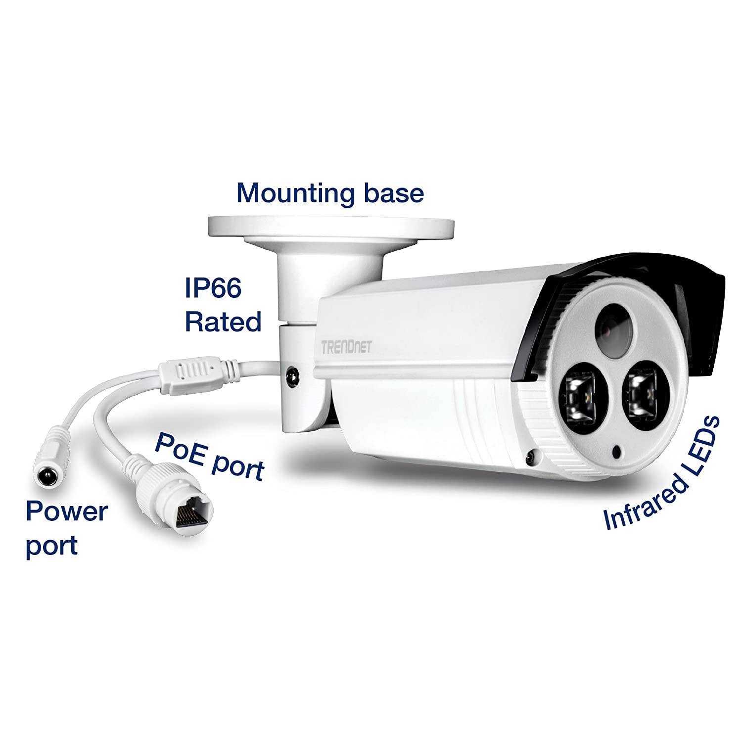 262 Long Range Night Vision up to 80m TRENDnet Indoor//Outdoor 5MP H.265 120dB WDR PoE Network Camera 262/' TV-IP313PI Long Range Night Vision up to 80m IP67 Rated Housing