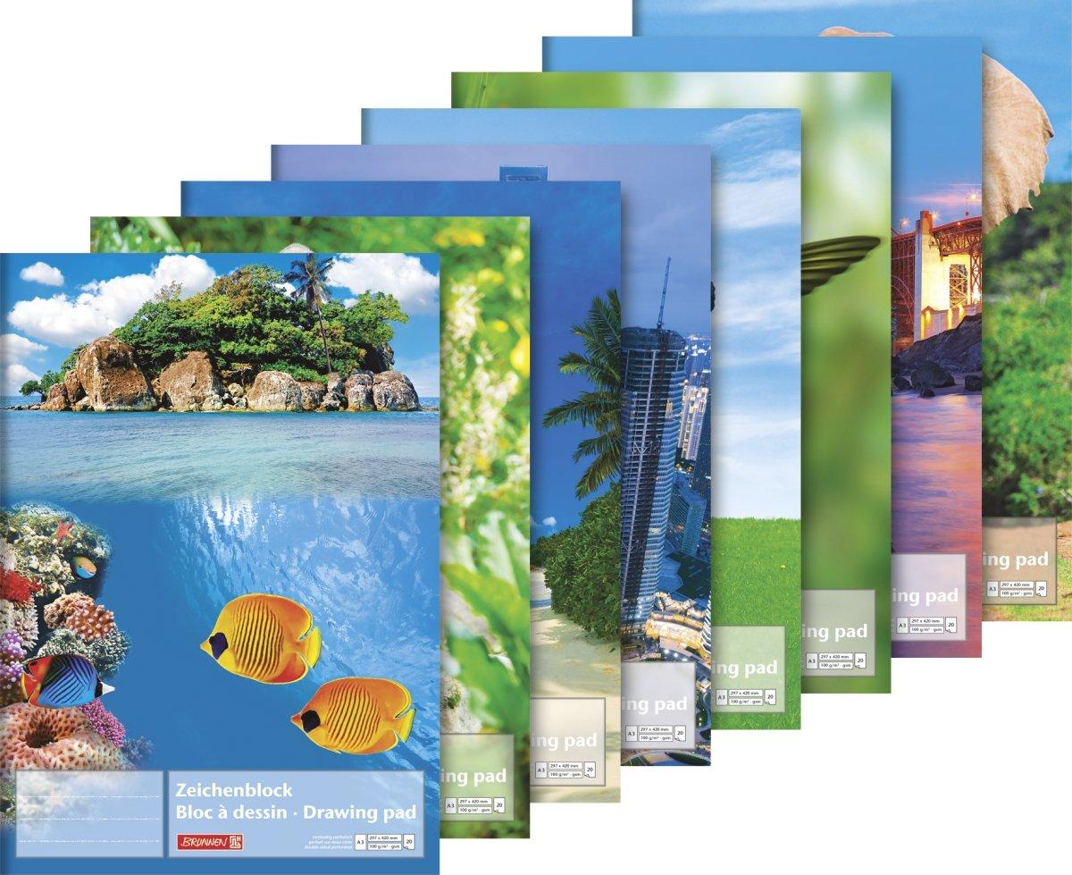 Baier schneider bloc /&297 mm x 420 mm x a3 20 feuilles de papier /à lettre animaux 100 g//m /²