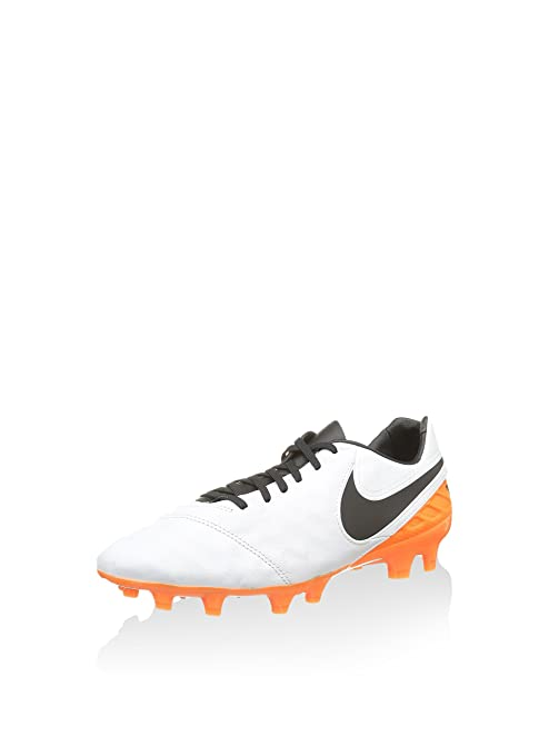Nike Legacy II FG Men's Soccer Cleats - White Orange Size: 6.5