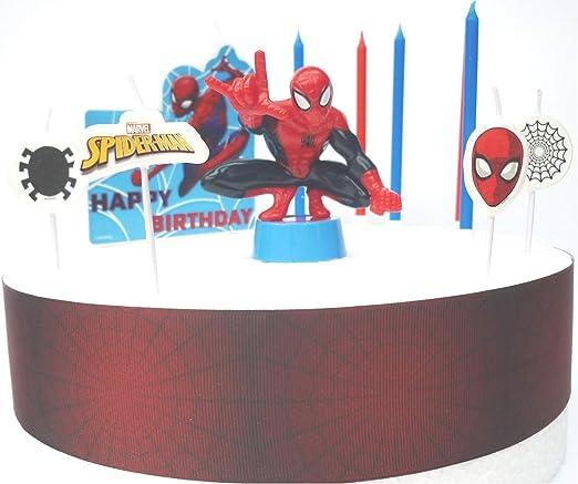 Juego de decoración para tarta de cumpleaños de Spiderman ...