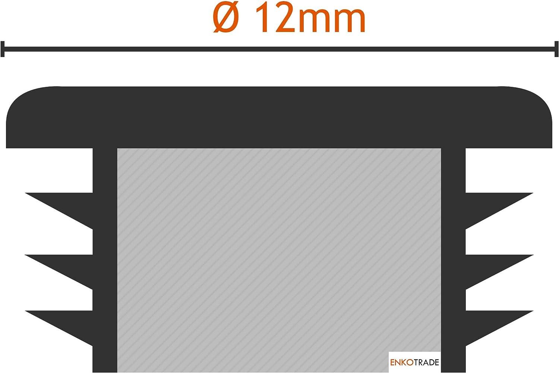 Rohrstopfen Stopfen Kappen Enkotrade 21 St/ück Lamellenstopfen Rund /Ø 32mm Rohrabdeckung aus hochwertigem Polyethylen Kunststoff Endstopfen