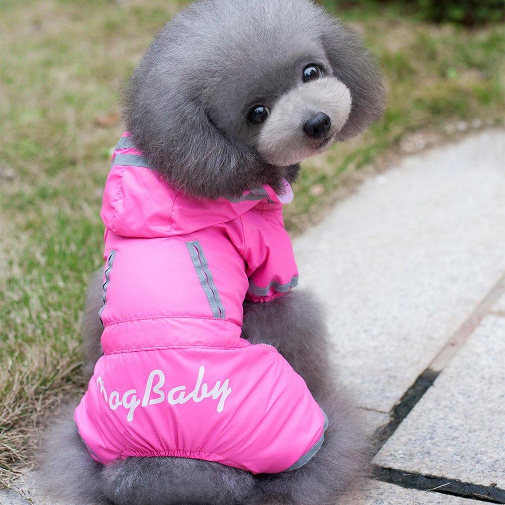 Color Rosa Talla XXL Chubasquero Impermeable Reflectante para Mascota smalllee/_lucky/_store YP0236-Pink-2XL