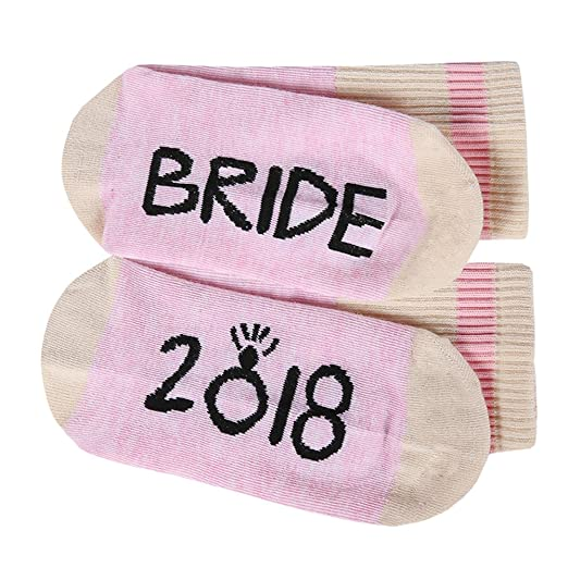 e4b687a5c Womens Funny Bride Socks 2018 Bridal Bridesmaid Fun Saying Novelty Crazy  Crew Ankle Socks