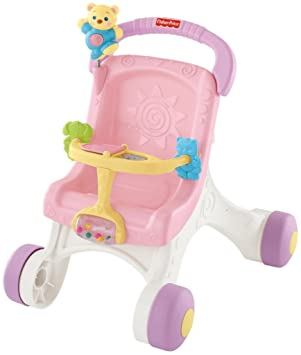 Amazon.es: Fisher-Price - Brilliant Basics Stroll-Along Walker (Mattel M9523): Juguetes y juegos