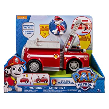 b82904fa80cc5 Paw Patrol - 6022629 - Véhicule + Figurine Deluxe Marcus ou Chase - La Pat'