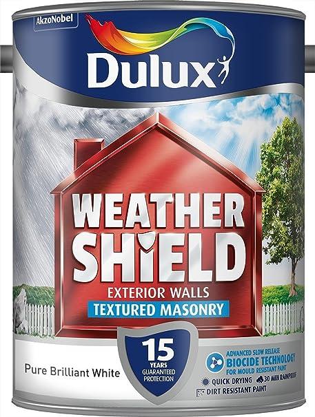 Dulux Weather Shield Textured Paint 5 L Pure Brilliant White