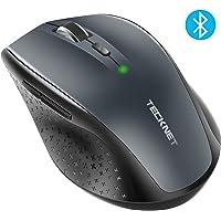 TeckNet Souris Bluetooth sans Fil, Wireless Mouse, 5 Niveaux de DPI Ajustables, 3000 DPI, 6 Boutons