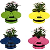 TrustBasket TrustBasket Set of 4 - Bee Planters Green,Yellow,Blue and Pink