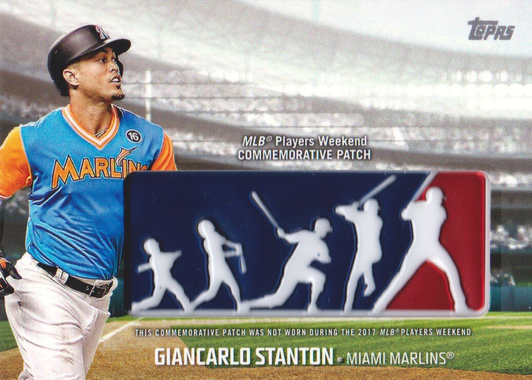 2018 Topps Baseball Players Weekend Patches  PWP-GST Giancarlo Stanton  Miami Marlins at Amazon s Sports Collectibles Store 257e10039be