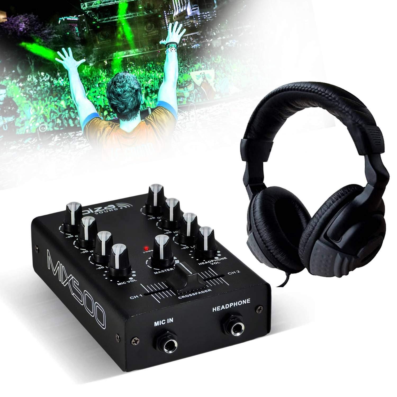 Mesa de mezclas DJ Sono 2 canales 3 entradas Ibiza Sound mix500 + ...