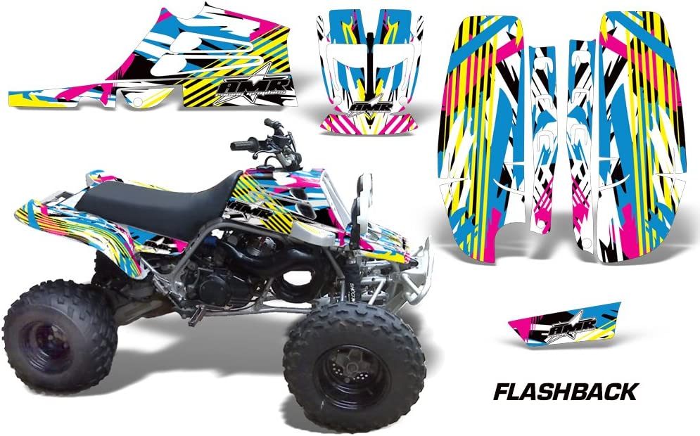 AMR Racing ATV Graphics kit Sticker Decal Compatible with Yamaha Banshee Fullbore Plastics Flashback