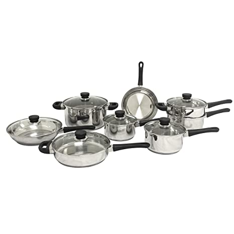 Amazon.com: BergHOFF Cook n Co 14-pc. Acero inoxidable ...