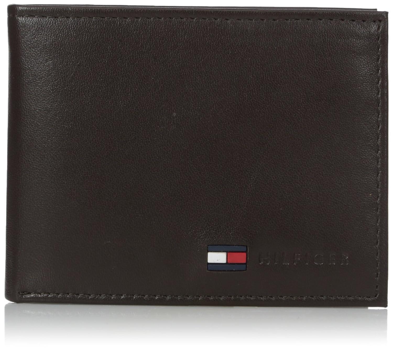 710dcc0c Tommy Hilfiger Men's Leather Passcase Wallet,Brown: Amazon.co.uk: Clothing