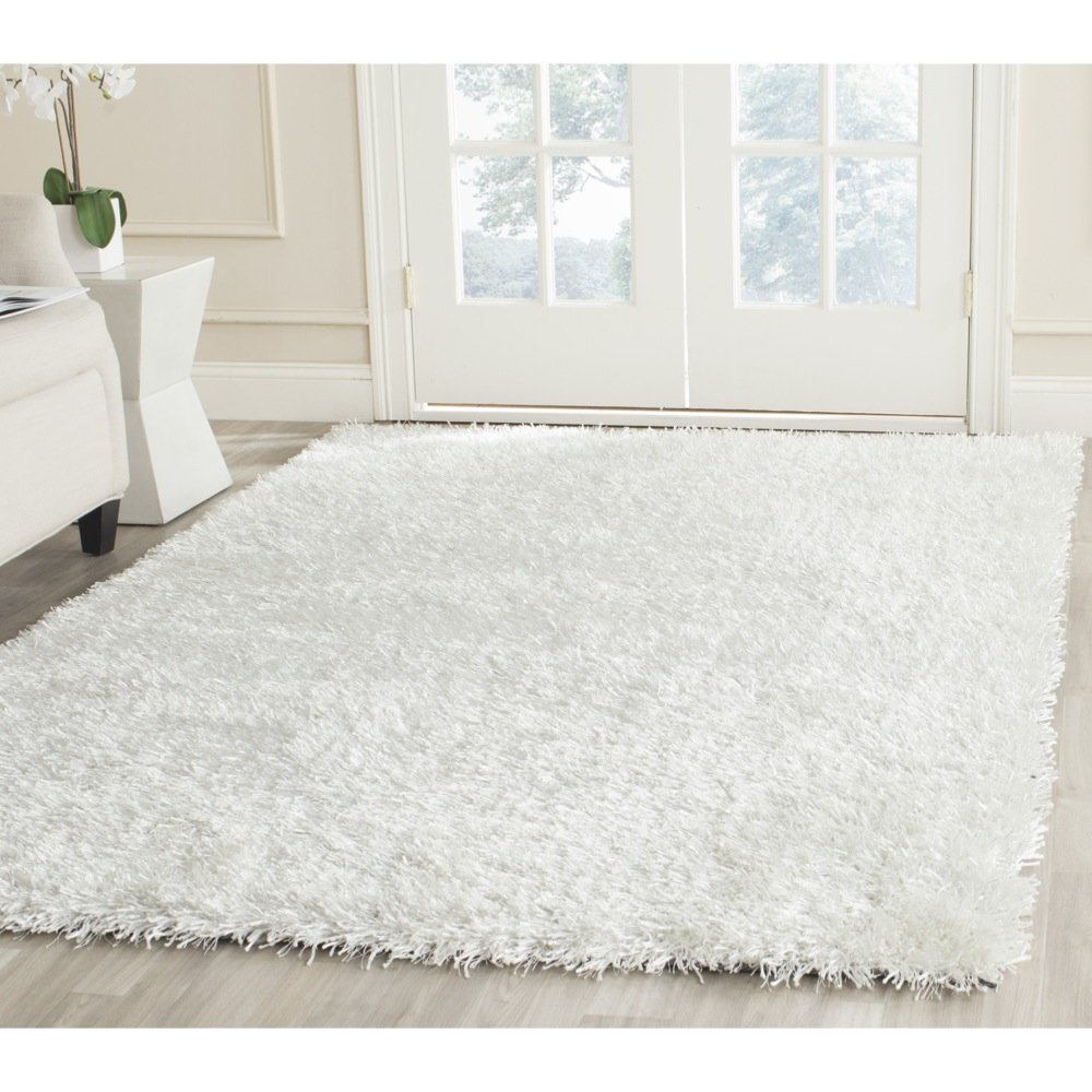 amazoncom safavieh new orleans shag collection sg off  - amazoncom safavieh new orleans shag collection sg offwhitepolyester area rug (' x ') kitchen  dining