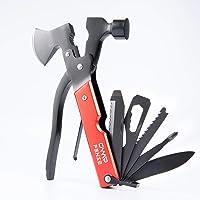 CampFENSE kieszonkowe multi-narzędzie z młotkiem ze stali nierdzewnej, survival Axt na kemping, wędrówki, polowanie, do…