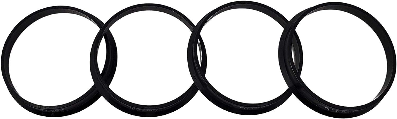 Hub Centric Rings 56.1mm Pack of 4 ABS Plastic Black Set Hubrings ...