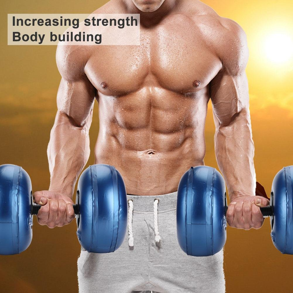 Maxmartt Dumbbell Adjustable Dumbbell Water-Filled Barbells Eco-Friendly Fitness Equipment for Gym Indoor(8-10kg-blue)