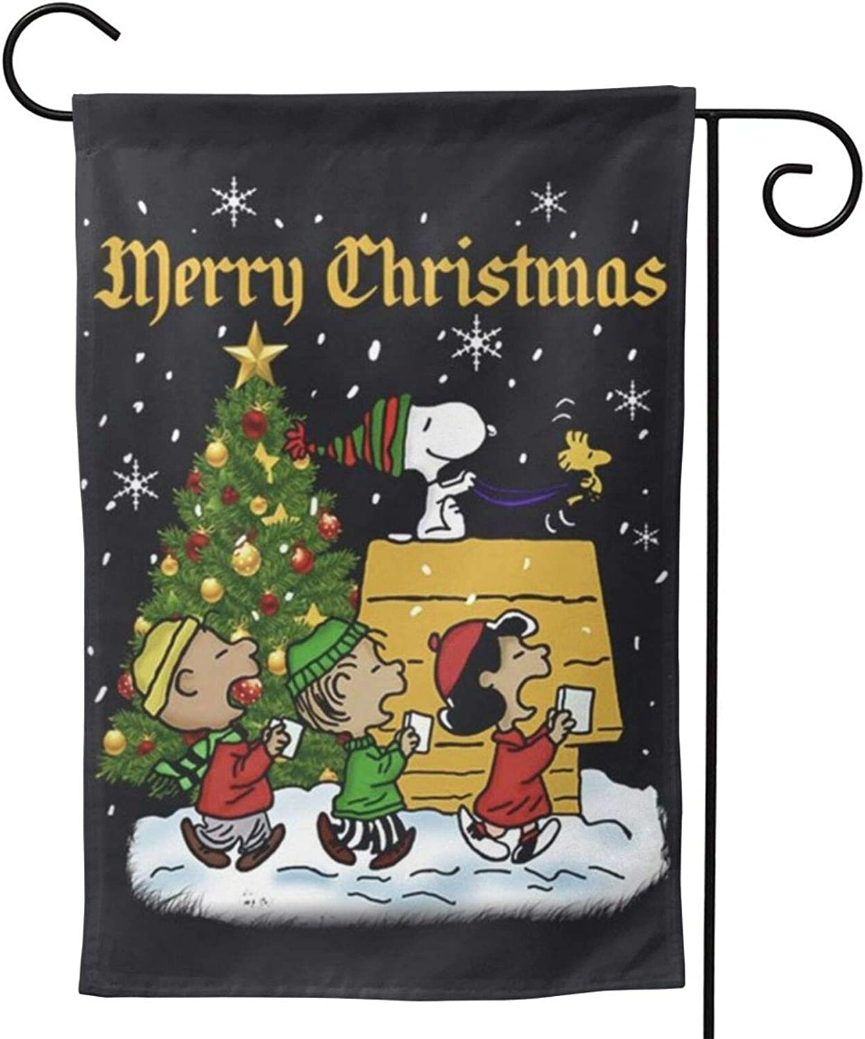Stockdale Peanuts Christmas Garden Flag Decorative Winter Flag for Courtyard 12.5x18 Inch