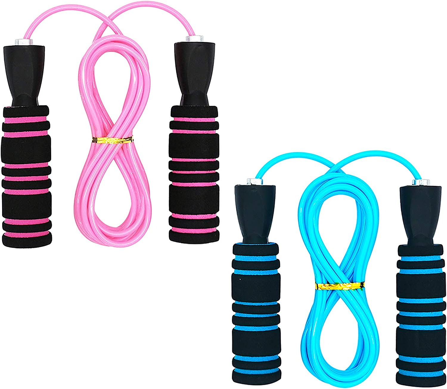 Kids Jump Rope Adjustable Jumping Ropes with Memory Foam Handles Ball Bearings Tangle-Free Speed Cable Skipping Rope for kids,Children and Students
