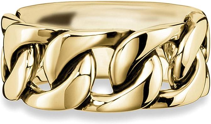 cai Herren Ring 925 Sterling Silber vergoldet ohne Stein gelb 132270768