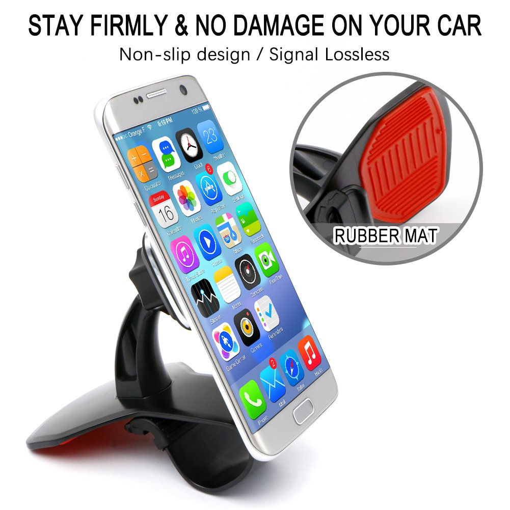 Bukm Universal Magnetic Dashboard Phone Holder Mount for Cell Phones and Mini Tablets 4351485763 360 Degree Rotation New Design Car Phone Mount, Super Strong Magnet