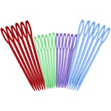 eBoot Colorful Plastic Sewing Needles, 24 Pieces
