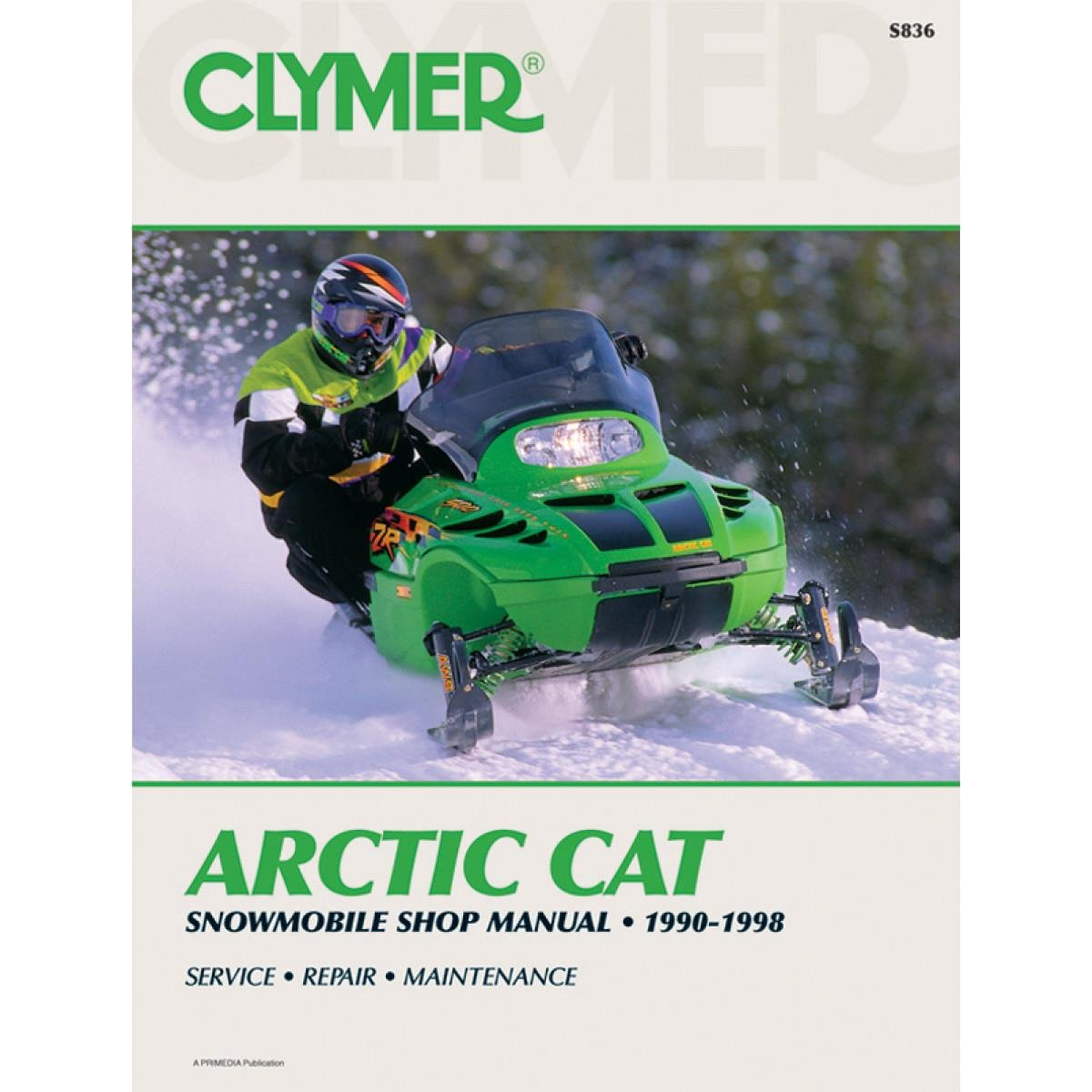 Amazon.com: Clymer Artic Cat Snowmobile (1990-1998) (53007): Home Audio &  Theater