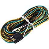 EXERAUO 4 Flat Trailer Wiring Kit 25ft /& 4ft 4 Flat Trailer Wiring Harness Extension Connector with18 Gauge Wishbond Trailer End Wire Harness