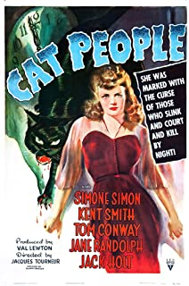 Vintage Simone Simon Horror Movie Poster Cat People reproduction giclee 24x36 in
