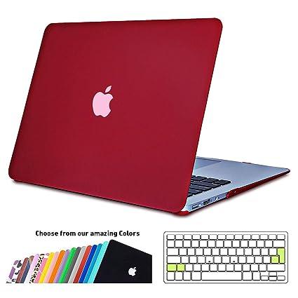 iNeseon Funda MacBook Air 13, Carcasa Delgado Case Duro y Cubierta del Teclado Transparente EU Layout para MacBook Air 13.3 Pulgadas Modelo A1466 y ...