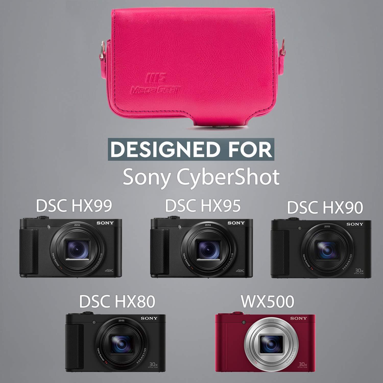 MegaGear Sony Cyber-shot Estuche de Cuero para C/ámara con Correa