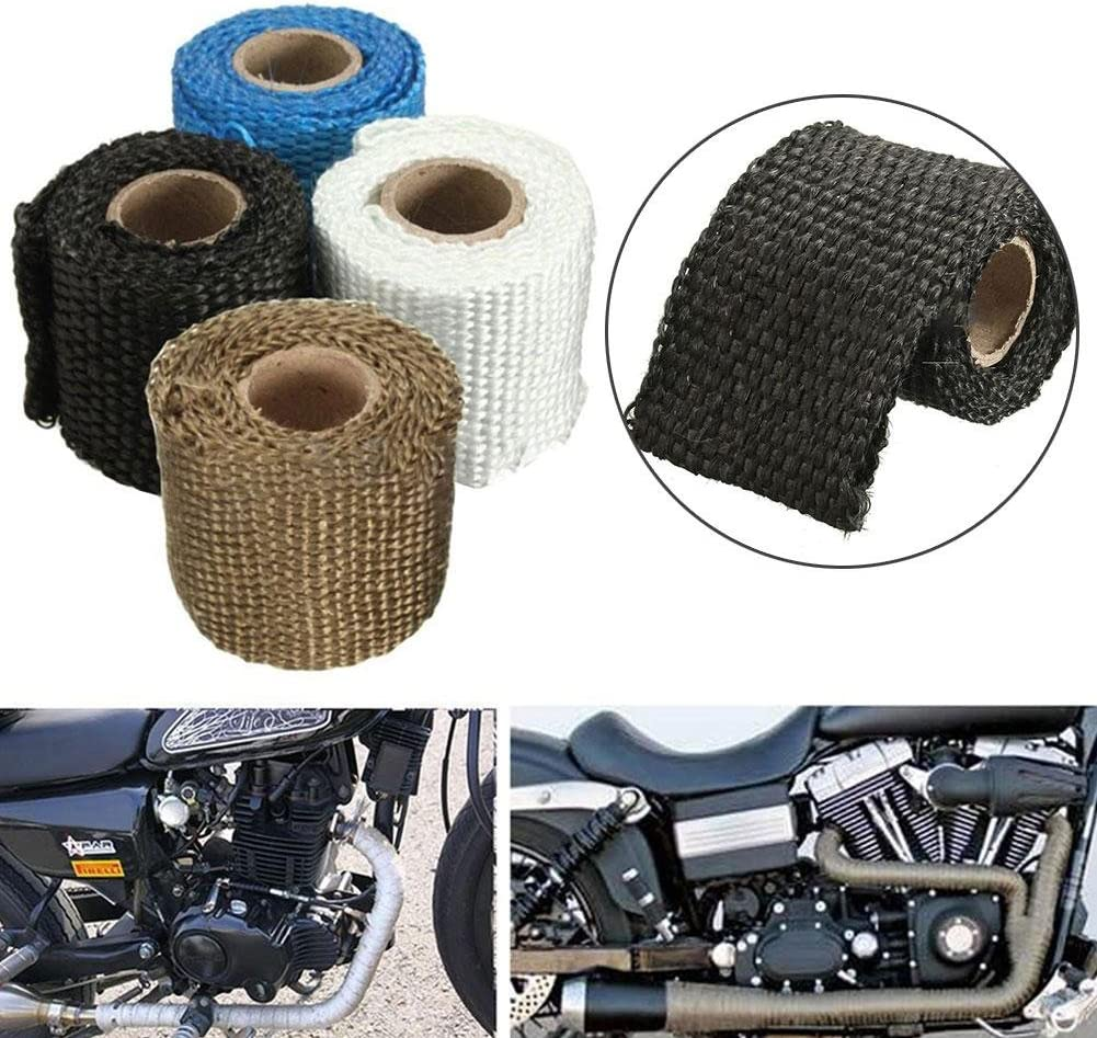 *0.079In W L Titanium Exhaust Wrap Roll 32.8Ft T with Stainless Steel Ties *2In