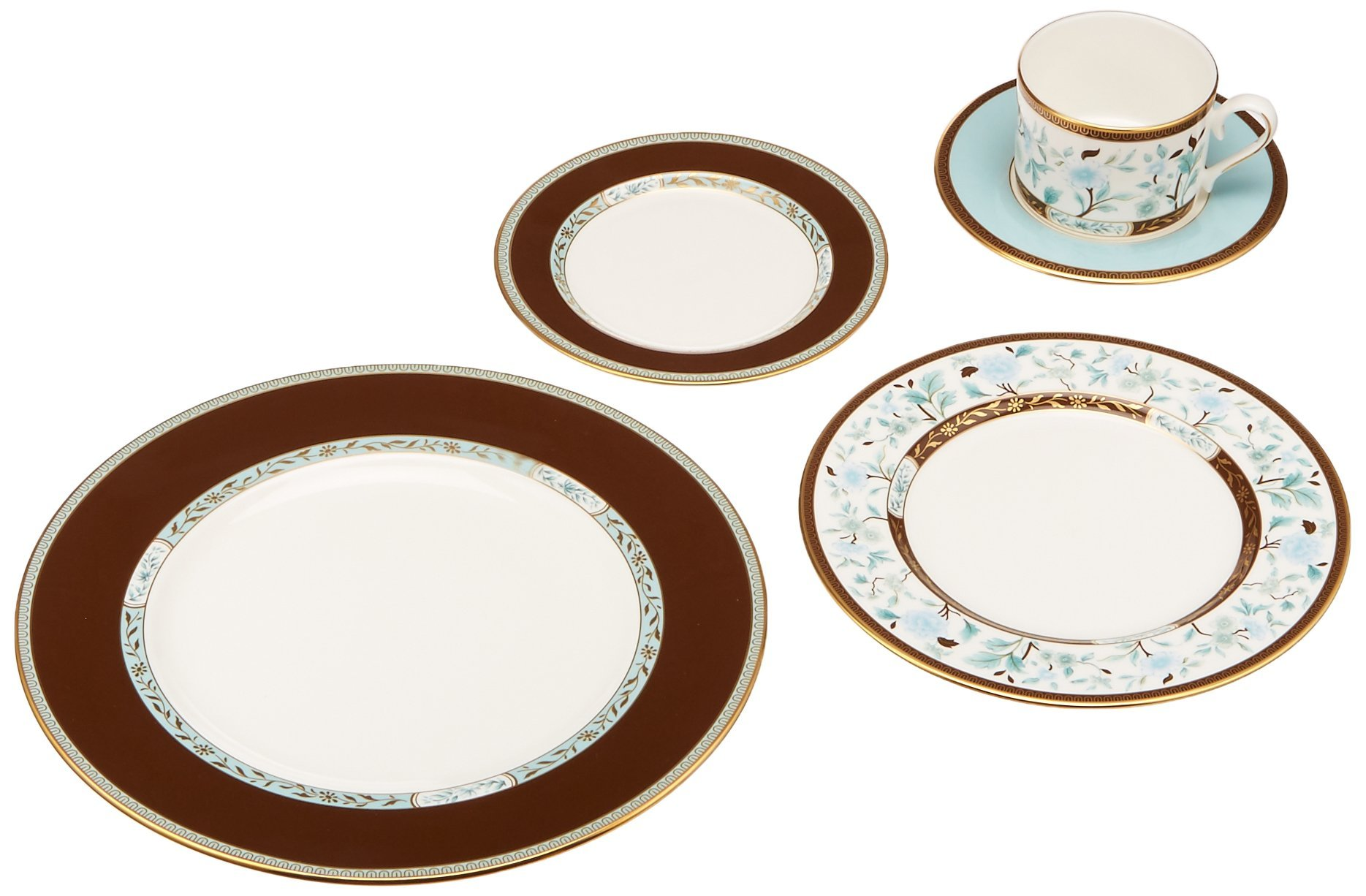 Lenox Marchesa 5-Piece Place Setting, Palatial Garden - Crafted of lenox fine white bone China Accented with 24 karat gold Dishwasher safe - kitchen-tabletop, kitchen-dining-room, dinnerware-sets - 71CCjWDLgML -